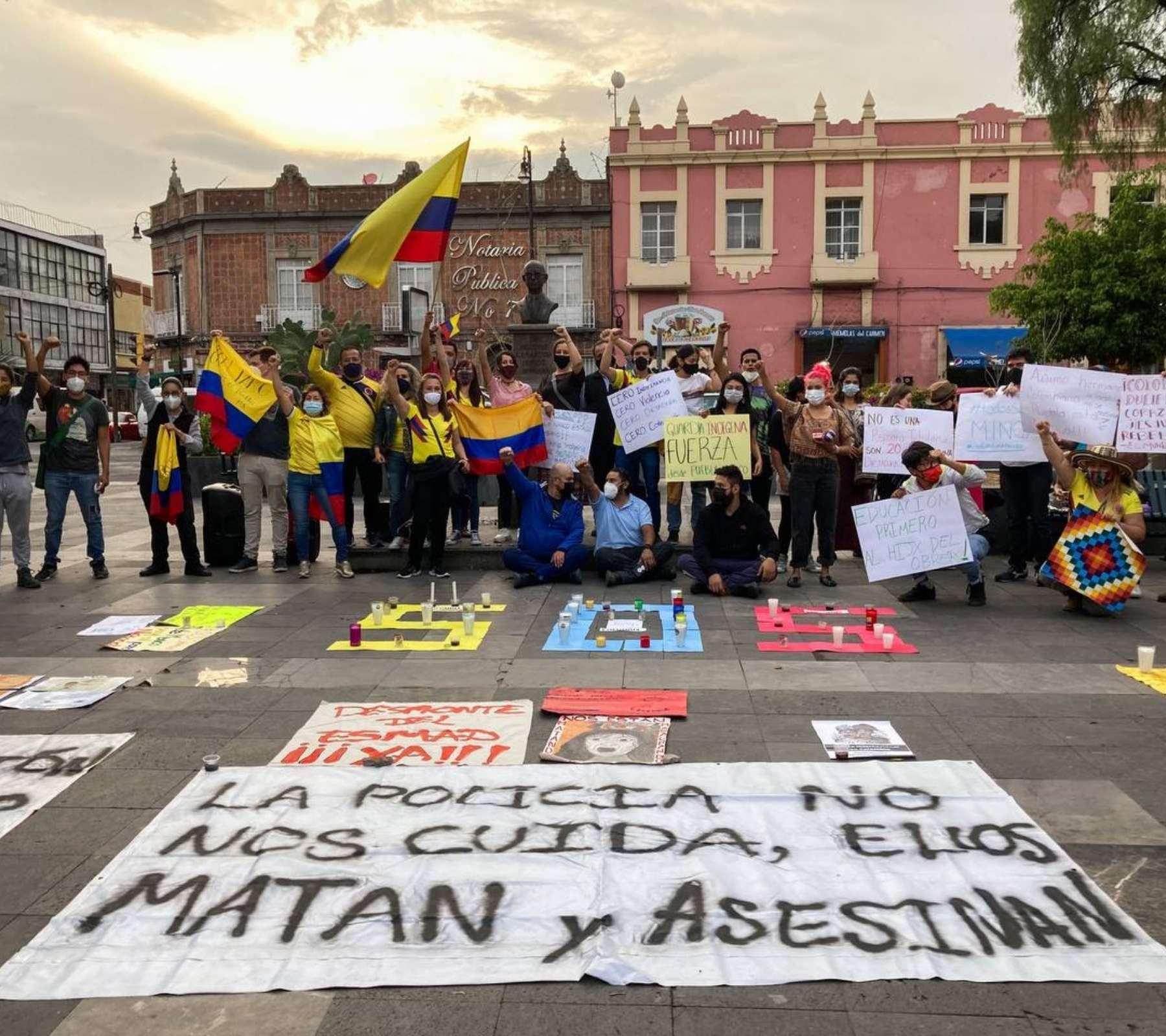 Protesta Colombia Puebla
