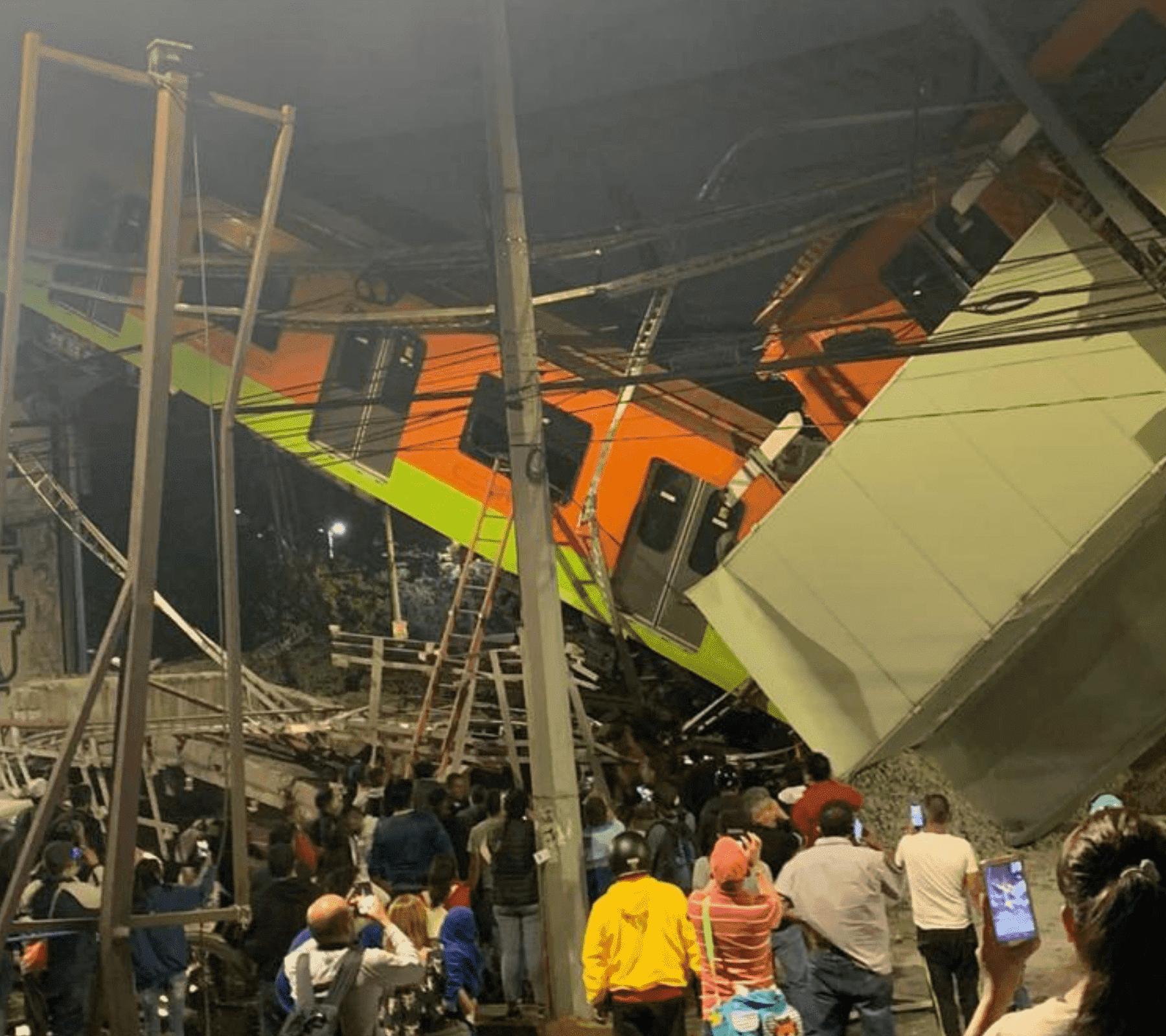 caída del puente de la línea 12 del Metro