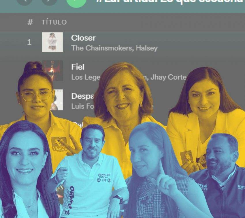 #LaPartida: Lo que escuchan los candidatos en Spotify