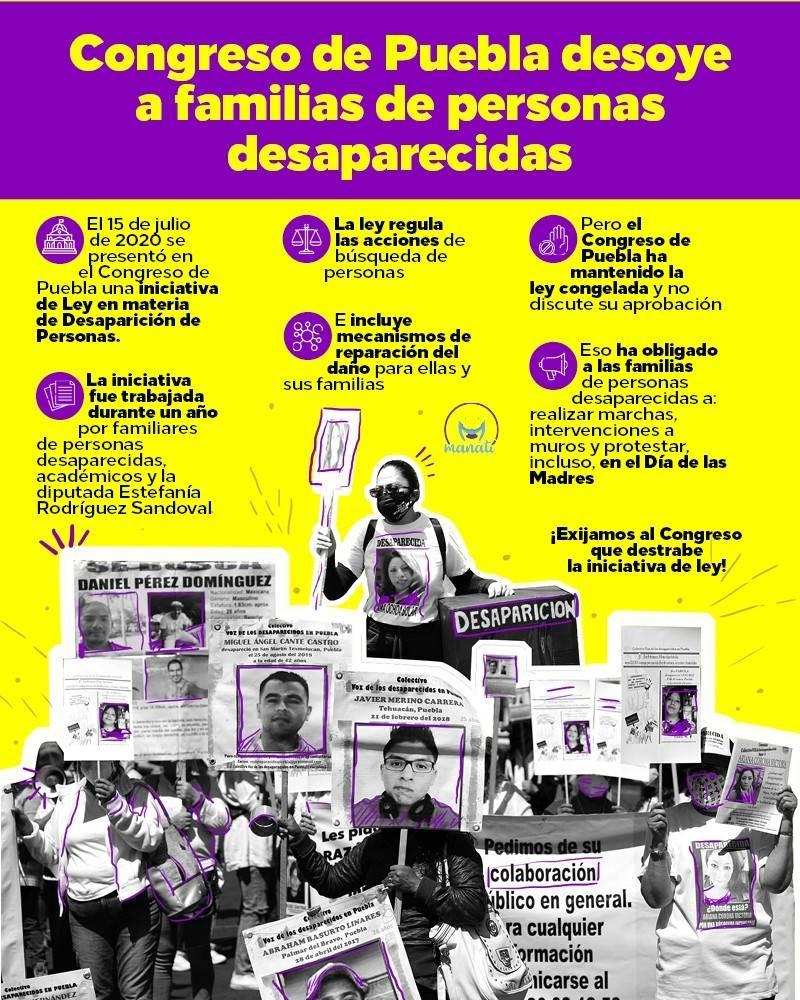 infografía personas desaparecidas ley Congreso Puebla