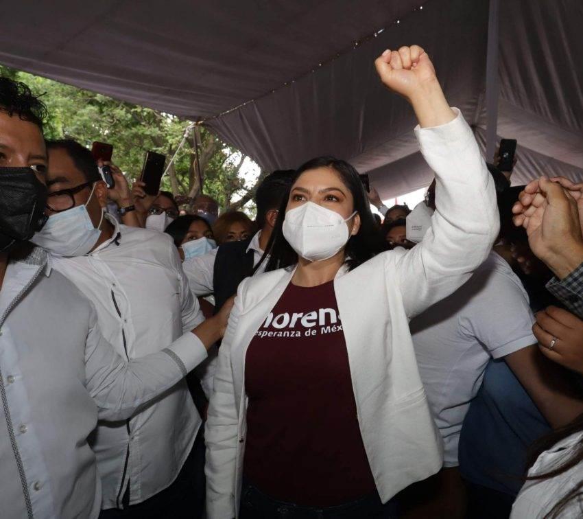 El último día de campaña de Claudia Rivera