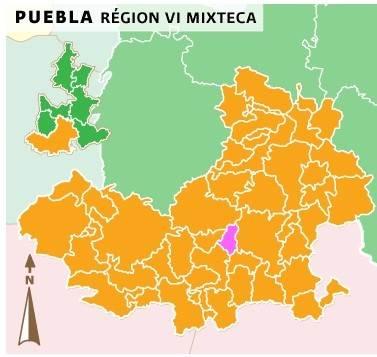 Ahuehuetitla se encuentra al sur del estado, en la región de la Mixteca.