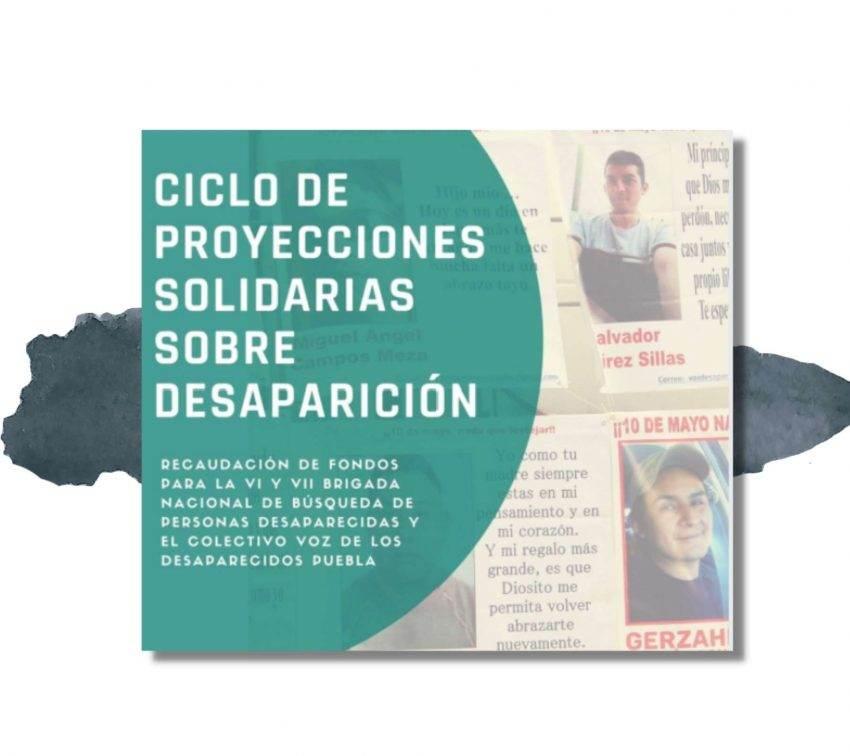 Anuncian ciclo de documentales en Puebla para apoyar brigadas de búsqueda de personas
