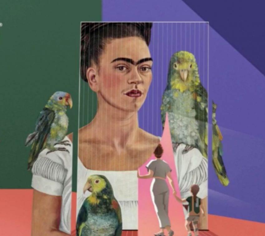 Conoce el mundo de Frida Kahlo a través de esta exposición inmersiva