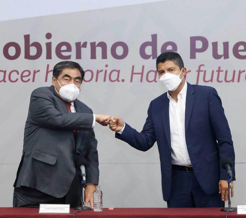 Se reúnen Miguel Barbosa y Eduardo Rivera dos días después de elecciones