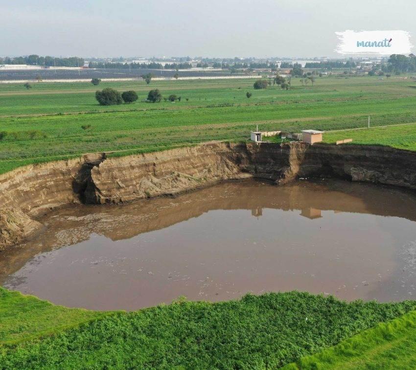 Extracción ilegal de agua sí es una de las causas del socavón en Puebla