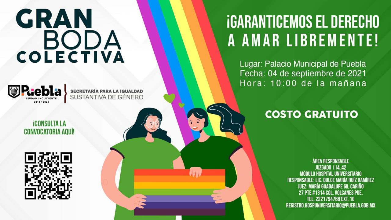 flyer de la boda colectiva en Puebla
