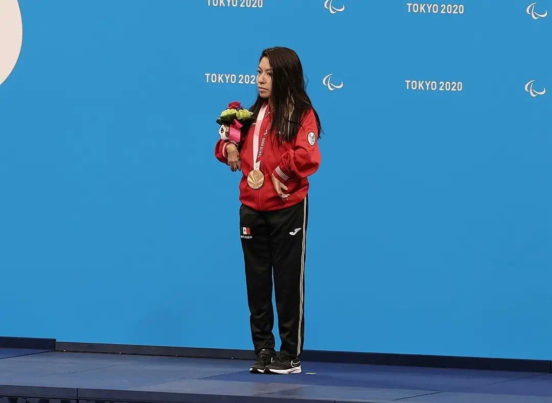 Fabiola Ramírez, atleta de México ganadora de medalla de bronce en los Juegos Paralímpicos de Tokio 2020. Fotografía: CONADE