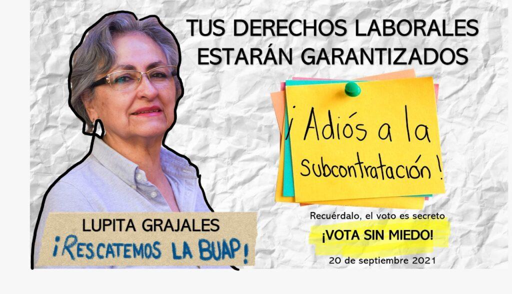 Propuestas de Guadalupe Grajales, candidata a rectoría de la BUAP.
