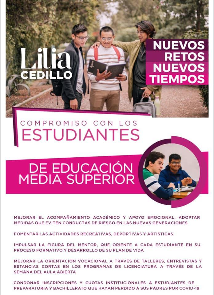 Propuestas de Lilia Cedillo, una de las candidatas a la rectoría de la BUAP.