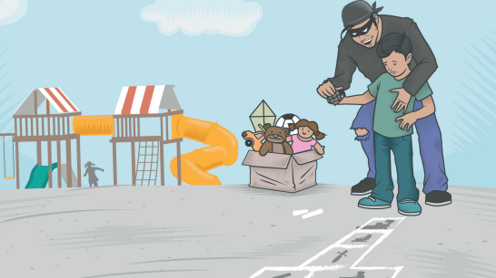infancias de puebla crimen organizado. Ilustración